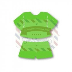 Fustella Sizzix Originals Green Bitty Shorts & Top
