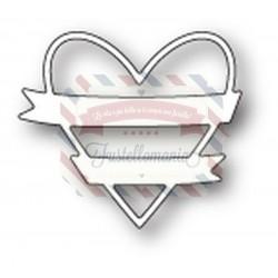 Fustella metallica Memory Box Wrapped Heart