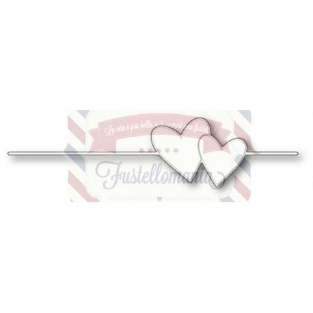 Fustella metallica PoppyStamps Heart String
