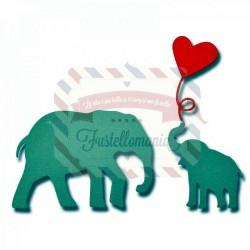 Fustella Sizzix Thinlits Baby Elephant