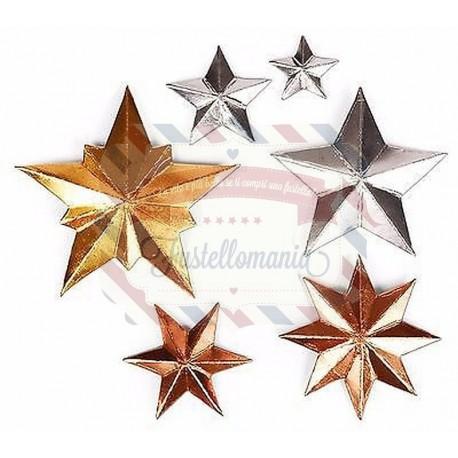Fustella Sizzix Thinlits Dimensional Stars