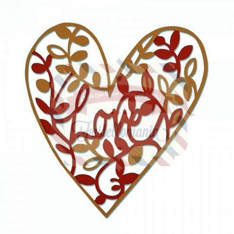 Fustella Sizzix Thinlits Natural Love