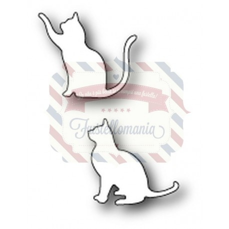 Fustella metallica PoppyStamps Friendly Kitties