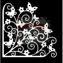 Fustella metallica Tutti Designs Fluttering Butterfly Corner
