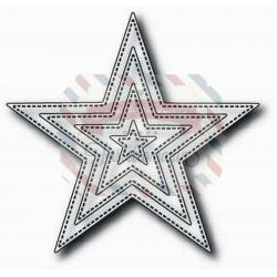 Fustella metallica Tutti Designs Nesting Stitched Stars