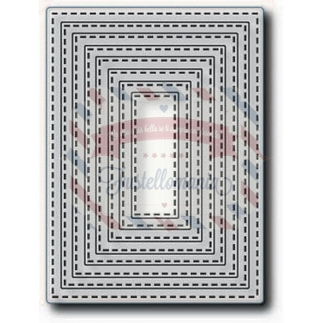Fustella metallica Tutti Designs Nesting Stitched Rectangles