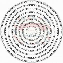 Fustella metallica Tutti Designs Nesting Stitched Circles