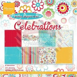 Carta da scrapbooking Marianne Design pretty papers bloc celebrations
