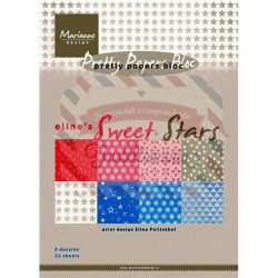 Carta da scrapbooking Marianne Design pretty papers bloc Eline's sweet star