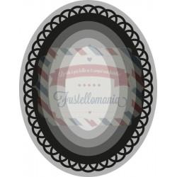 Fustella metallica Marianne Design Craftables basic oval
