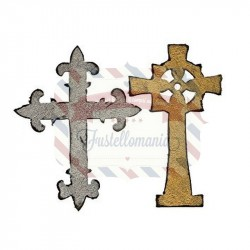 Fustella Sizzix Bigz Ornate Crosses