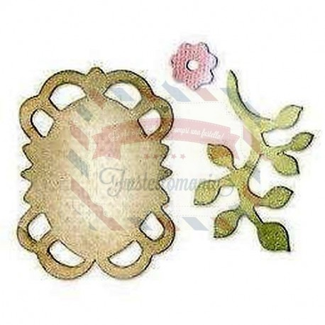 Fustella Sizzix Originals Frame Leaves & Flower