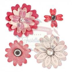 Fustella Sizzix Bigz Flower Layers w/Heart Petals