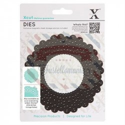 Fustella metallica Xcut Vintage Notes - Doily