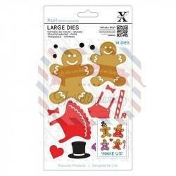 Fustella metallica Xcut Gingerbread Family