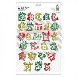 Fustella metallica Xcut A4 Festive Alphabet