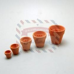 Set 5 vasetti in terracotta varie misure