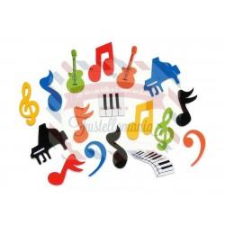 Fustellati in fommy adesivo 45 pezzi Musica