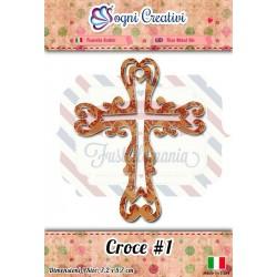 Fustella metallica sottile Croce 1