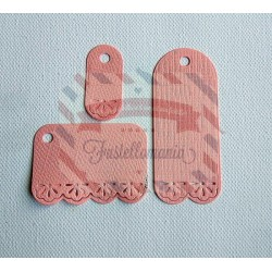 Fustella metallica Set 3 Tag decorative