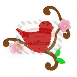 Fustella Sizzix Bigz Bird with Vine