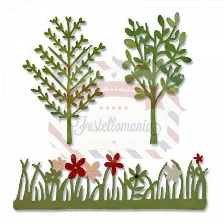 Fustella Sizzix Thinlits Green Garden