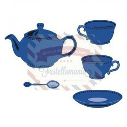 Fustella metallica Marianne Design Creatables Tea for you