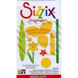 Fustella Sizzix Originals Yellow Paper Sculpting Daffodil & Narcissus