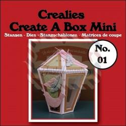Fustella metallica Crealies Create a box Mini Lanterna 01