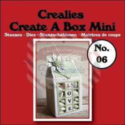 Fustella metallica Crealies Create a box Mini Milk carton 06