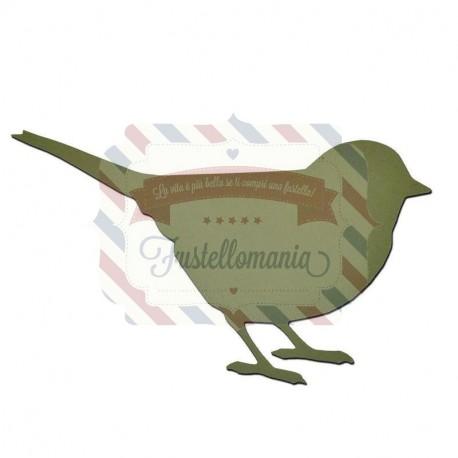 Fustella Sizzix Bigz Little Bird Uccellino