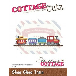 Fustella metallica Cottage Cutz Choo Choo Train