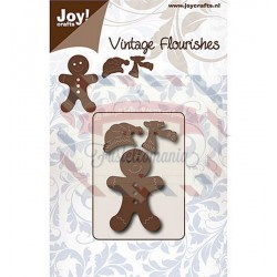 Fustella metallica Joy! Crafts Vintage Flourishes Gingerbread
