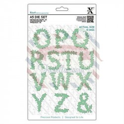 Fustella metallica Xcut A5 Floral Alphabet O-Z