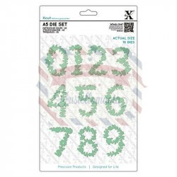 Fustella metallica Xcut A5 Floral Numbers