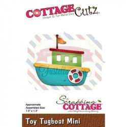 Fustella metallica Cottage Cutz Toy Tugboat Mini