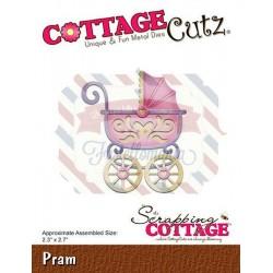 Fustella metallica Cottage Cutz Pram