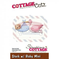 Fustella metallica Cottage Cutz Stork with Baby Mini