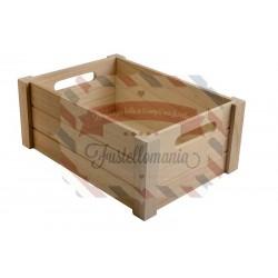 Cassetta contenitore in legno 2 pezzi