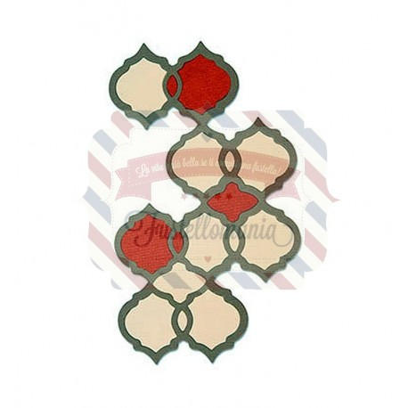 Fustella Sizzix Thinlits Moroccan Tile