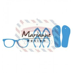 Fustella metallica Marianne Design Creatables Flip flops & sun glasses