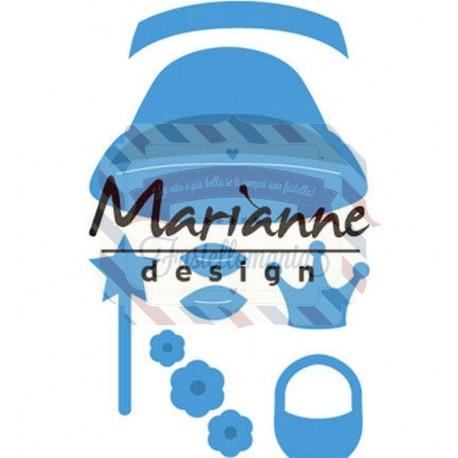 Fustella metallica Marianne Design Creatables Kim's Buddies girl set