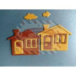 Fustella metallica Mini casetta e nuvole