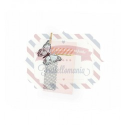 Fustella Sizzix Framelits con timbro Wild Butterfly