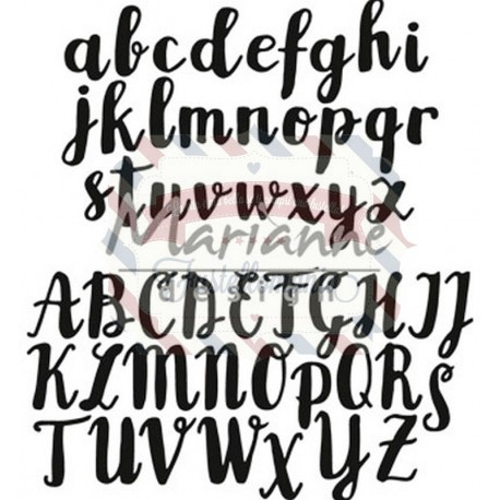 Fustella metallica Marianne Design Craftables Brush Alphabet