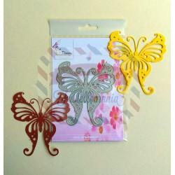 Fustella metallica Farfalla delicata
