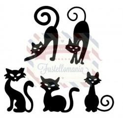 Fustella metallica Eeyore, Pudge, Fuzzy, Ostrich, and HalfPint