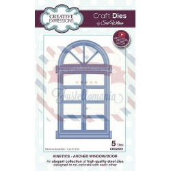 Fustella metallica Creative Expressions Arched Window Door