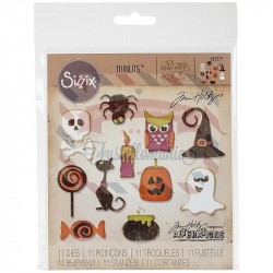 Fustella Sizzix Thinlits Mini Halloween Things