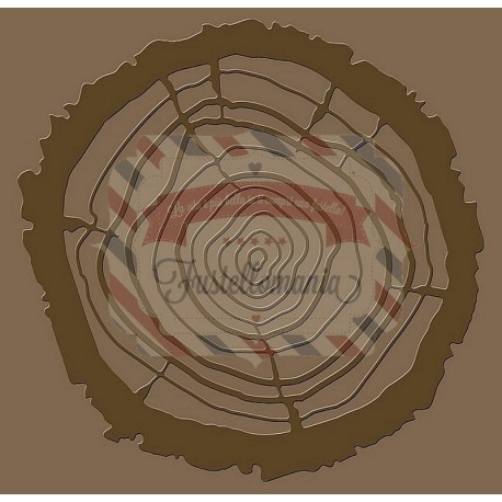 Fustella Sizzix Bigz Tree Rings with Texture